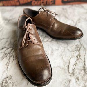 John Varatos USA Brown Leather Oxfords 7.5M
